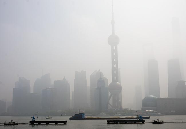 shangai smog polution chine