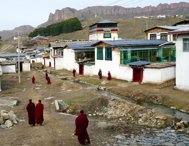moines tibet chine langmusi