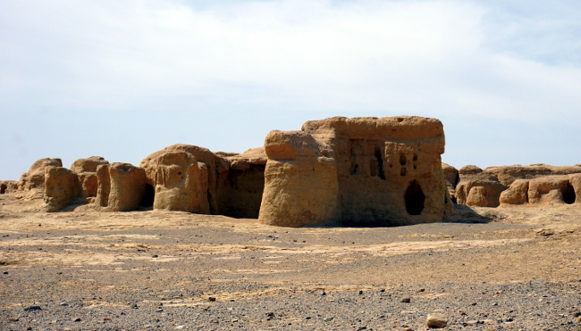 ruines Jiaohe turpan chine