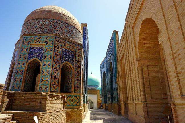cimetiere shah-i-zinda samarkand ouzbékistan