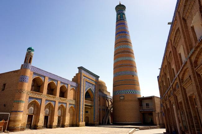 minaret khiva ouzbékistan