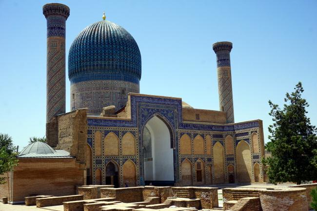 mausolee gur-e-amir timoursamarkand ouzbékistan