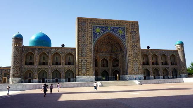 registan samarkand ouzbékistan