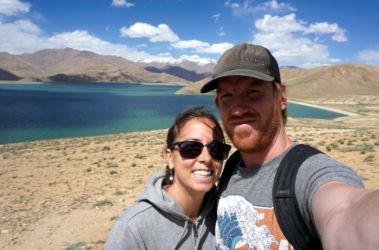 Yashil-Kul selfie tadjikistan pamir